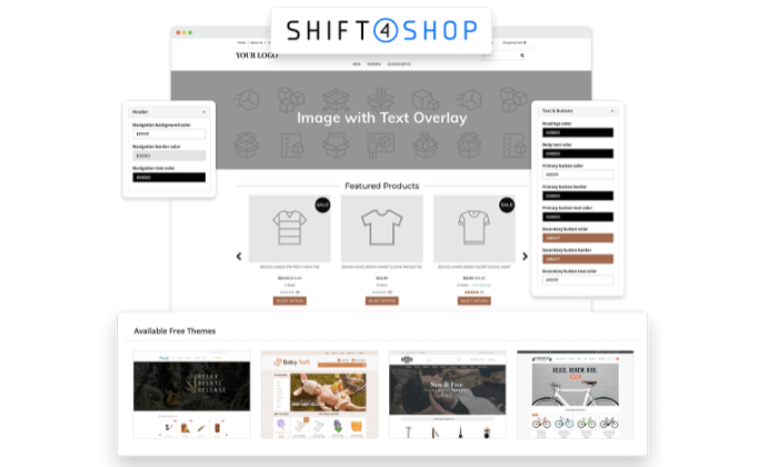 Shift4Shop example store for Best Ecommerce Website Builders