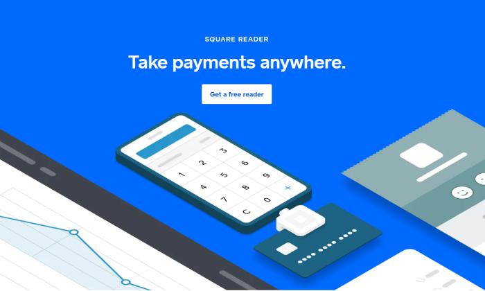 Square splash page for Best Merchant Services