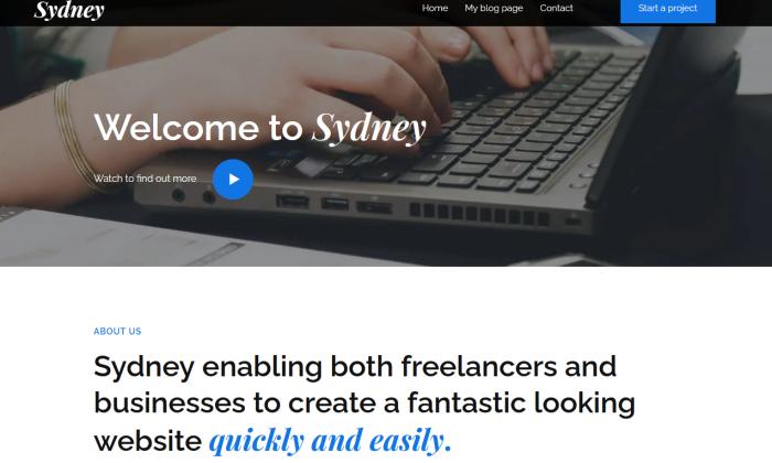 Sydney demo site for Best WordPress Themes