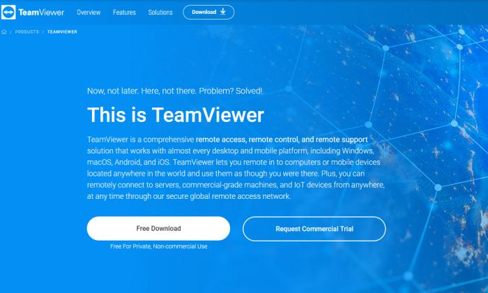 صفحه چلپ چلوپ TeamViewer برای بهترین نرم افزار دسترسی از راه دور