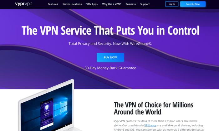 VyprVPN main page for Best VPN Services
