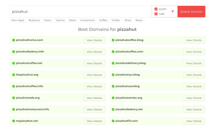 Domain Wheel search for How To Build a WordPress Website