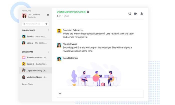 Flock interface for Best Collaboration Software
