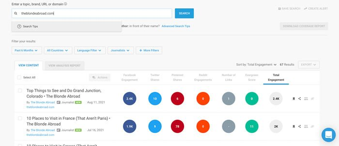 How to Do Quarterly SEO Planning - Use BuzzSumo for competitor research