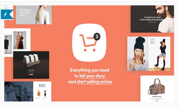 Shopkeeper splash page for Best Ecommerce WordPress Themes